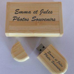 Clé USB 32 Go personnalisable en bambou