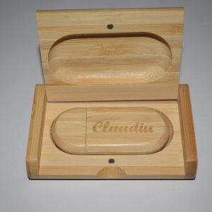 Clé USB 32 Go personnalisé en bambou