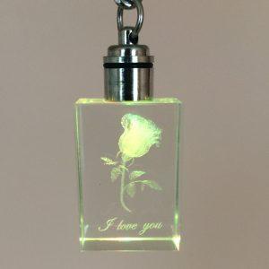 Porte-clé bloc de cristal