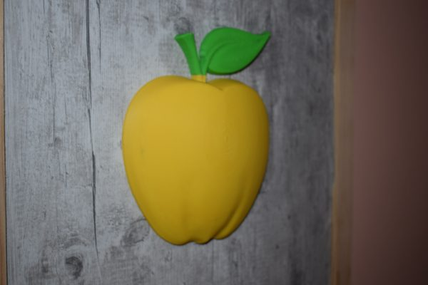 Pomme 3D en relief