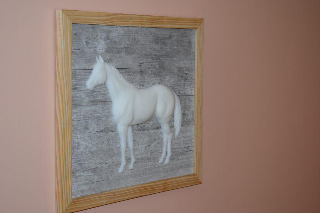 Tableau 3D Cheval