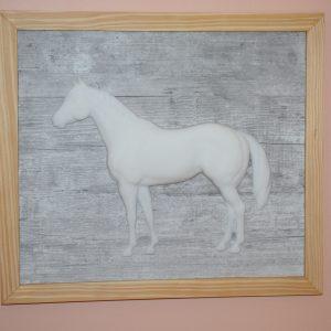 Tableau 3D Cheval en relief