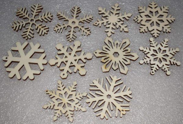10 Flocons de neiges